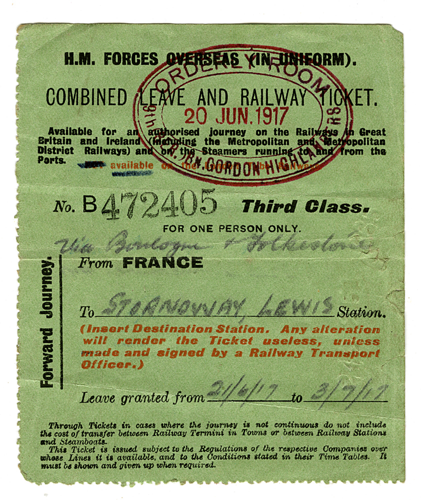 Leave and Railway Ticket