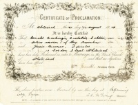 Certificate of Banns